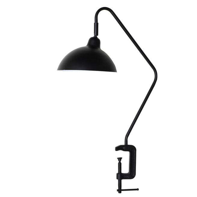 vtwonen Tafellamp 'Orion' met klem, mat zwart