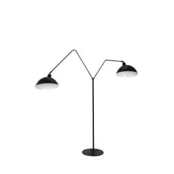 vtwonen Vloerlamp 'Orion' 2-Lamps, mat zwart