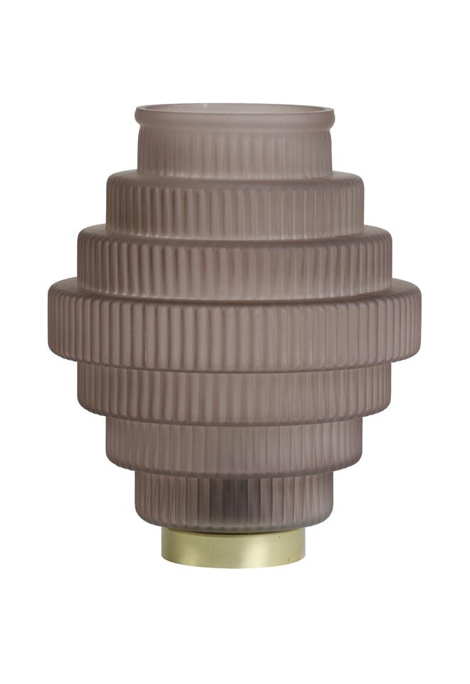 Light & Living Tafellamp 'Lizzy' LED, glas mat koffie
