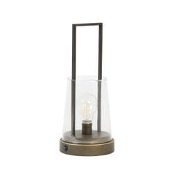Light & Living Tafellamp 'Calry' LED, oud brons