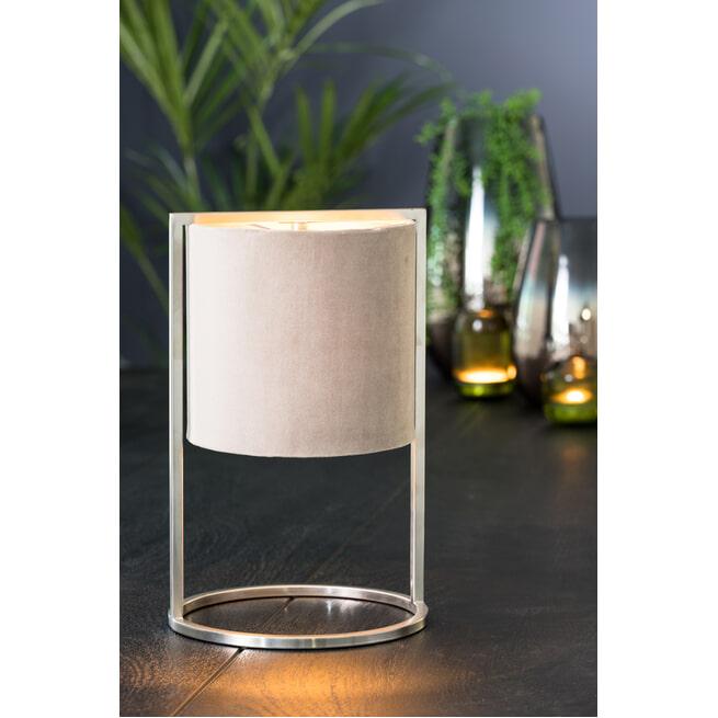 Light & Living Tafellamp 'Santos' 35cm hoog, Nikkel