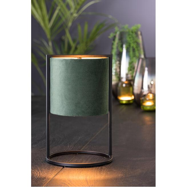 Light & Living Tafellamp 'Santos' 35cm hoog, Mat Zwart