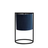 Light & Living Tafellamp 'Santos' 35cm hoog, Mat Zwart, kleur Petrol