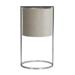Light & Living Tafellamp 'Santos' 45cm hoog, Nikkel