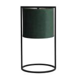 Light & Living Tafellamp 'Santos' 45cm hoog, Mat Zwart, kleur Donkergroen