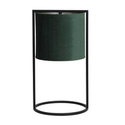 Light & Living Tafellamp 'Santos', mat zwart+kap donker groen