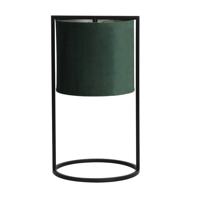 Light & Living Tafellamp 'Santos' 45cm hoog, Mat Zwart