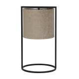Light & Living Tafellamp 'Santos' 45cm hoog, Mat Zwart, kleur Lichtbruin