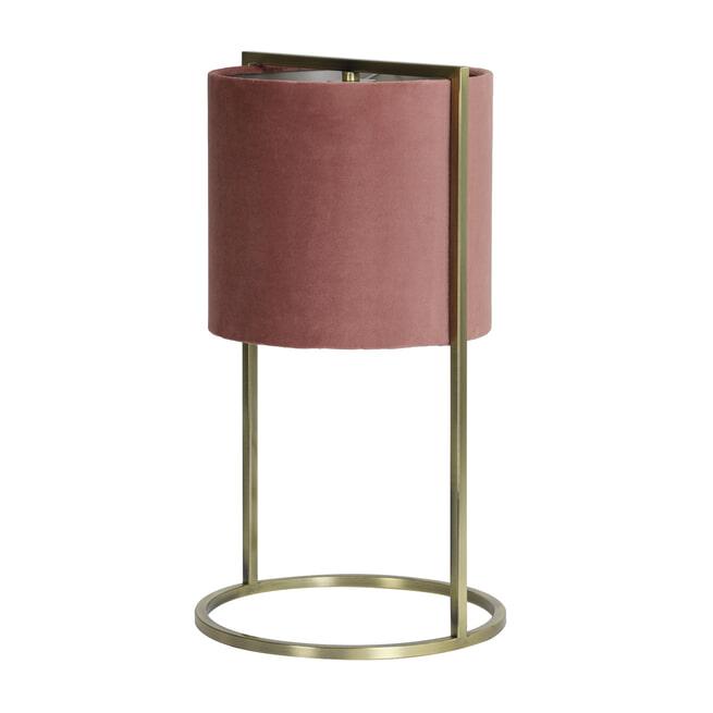 Light & Living Tafellamp 'Santos' 45cm hoog, Antiek Brons
