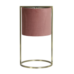 Light & Living Tafellamp 'Santos' 45cm hoog, Antiek Brons, kleur Oud Roze