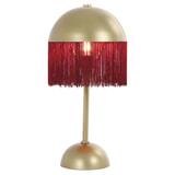 Light & Living Tafellamp 'Oiva' 43cm, bordeaux
