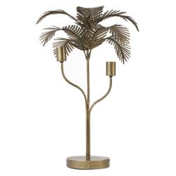 Light & Living Tafellamp 'Palm' 2-lamps, kleur Antiek Brons