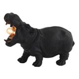 Light & Living Tafellamp 'Hippo' 17.5cm, kleur Mat Zwart