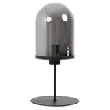 Light & Living Tafellamp 'Maverick' 50cm, mat zwart+smoke glas