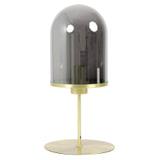Light & Living Tafellamp 'Maverick' 50cm, antiek brons+smoke glas