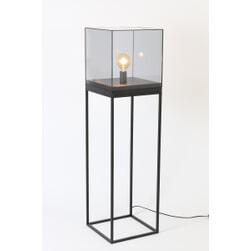 Light & Living Vloerlamp 'Askjer', mat zwart+smoke glas