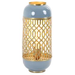 Light & Living Tafellamp 'Rohat', staal blauw
