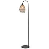 Light & Living Vloerlamp 'Meya', mat zwart+goud