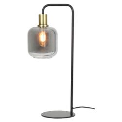 Light & Living Tafellamp 'Lekar' kleur Antiek Brons/Smoke