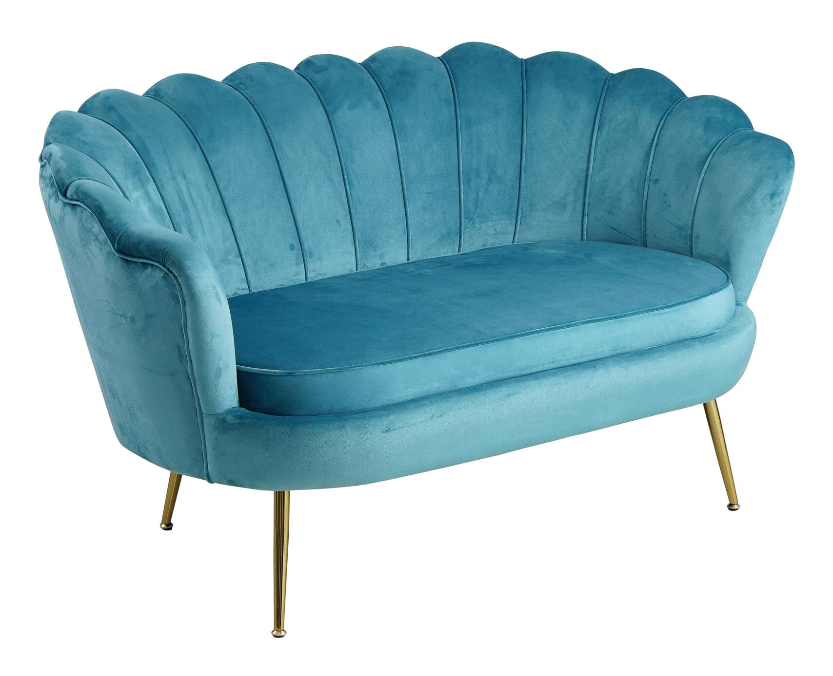 Artistiq Bank Libby, Velvet, 136cm, kleur Blauw