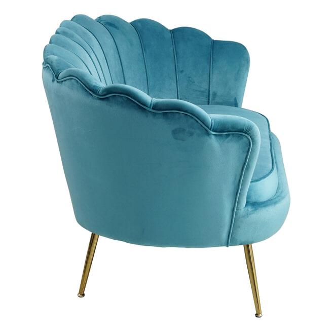 Artistiq Bank 'Libby', Velvet, 136cm, kleur Blauw