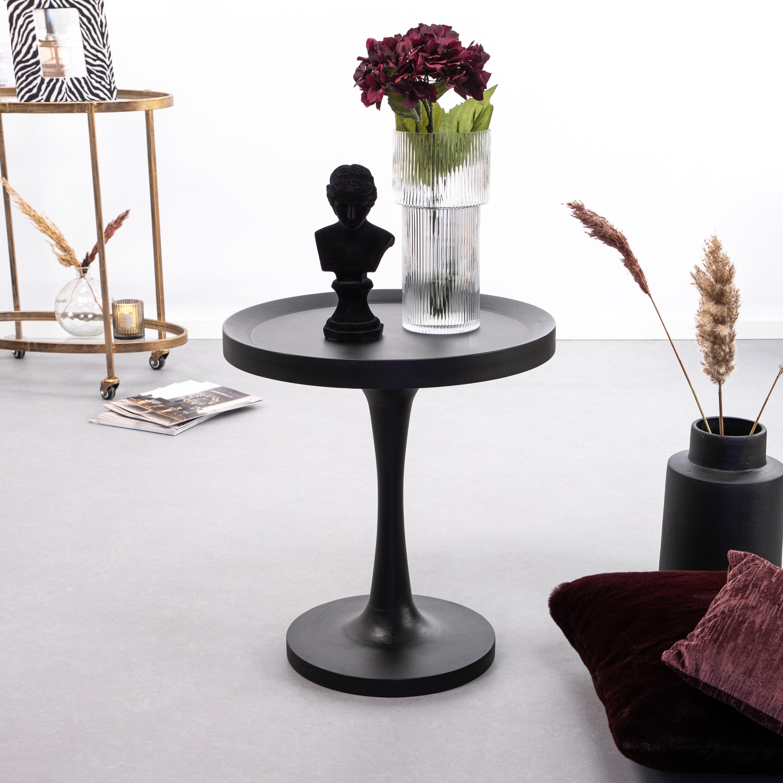 By-Boo Bijzettafel 'Totum' 50cm, kleur zwart