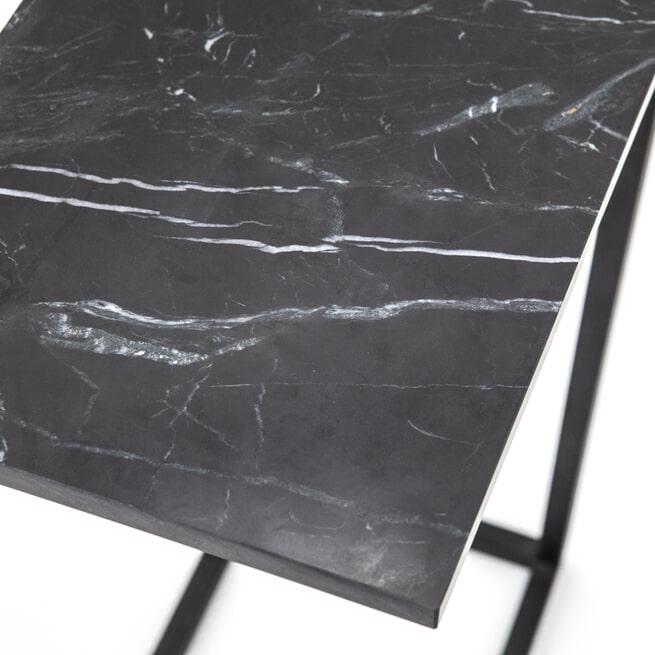 By-Boo Laptoptafel 'Edge' Marmer, kleur zwart