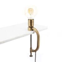 By-Boo Tafellamp 'Klamp' kleur Brass
