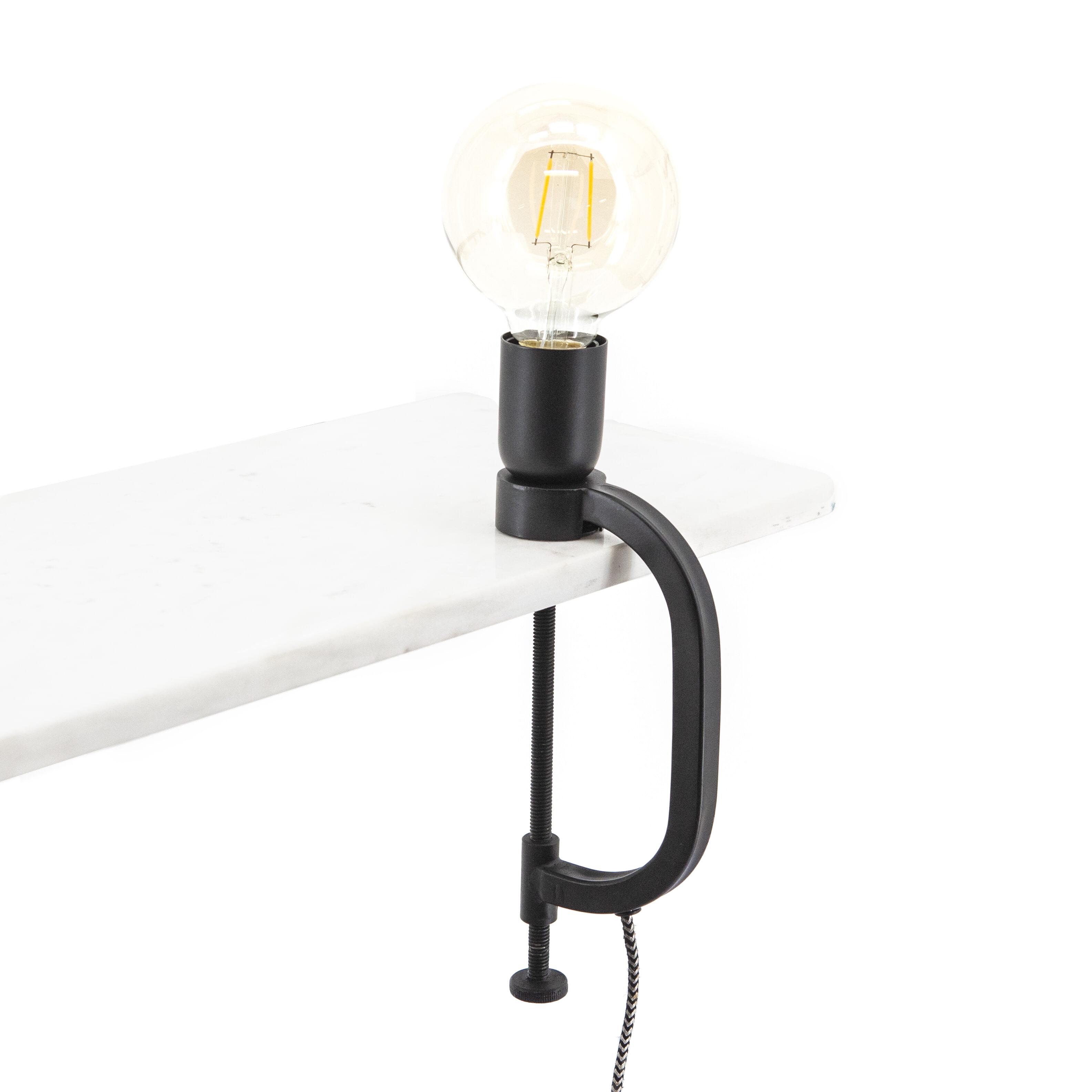 By-Boo Tafellamp 'Klamp', kleur Zwart
