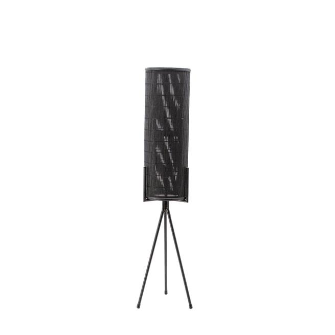 By-Boo Vloerlamp 'Archer' Bamboe & rattan, kleur zwart