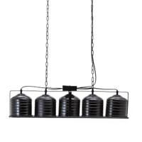 By-Boo Hanglamp 'Minack' 5-lamps, kleur zwart