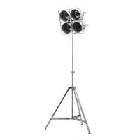 By-Boo Vloerlamp 'Minack' 4-lamps, metaal, kleur Metaal