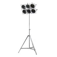 By-Boo Vloerlamp 'Minack' 6-lamps, metaal, kleur Metaal