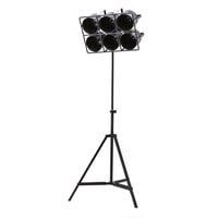 By-Boo Vloerlamp 'Minack' 6-lamps, kleur zwart
