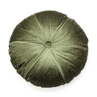 By-Boo Rond Kussen 'York' 50 x 50cm, kleur Groen
