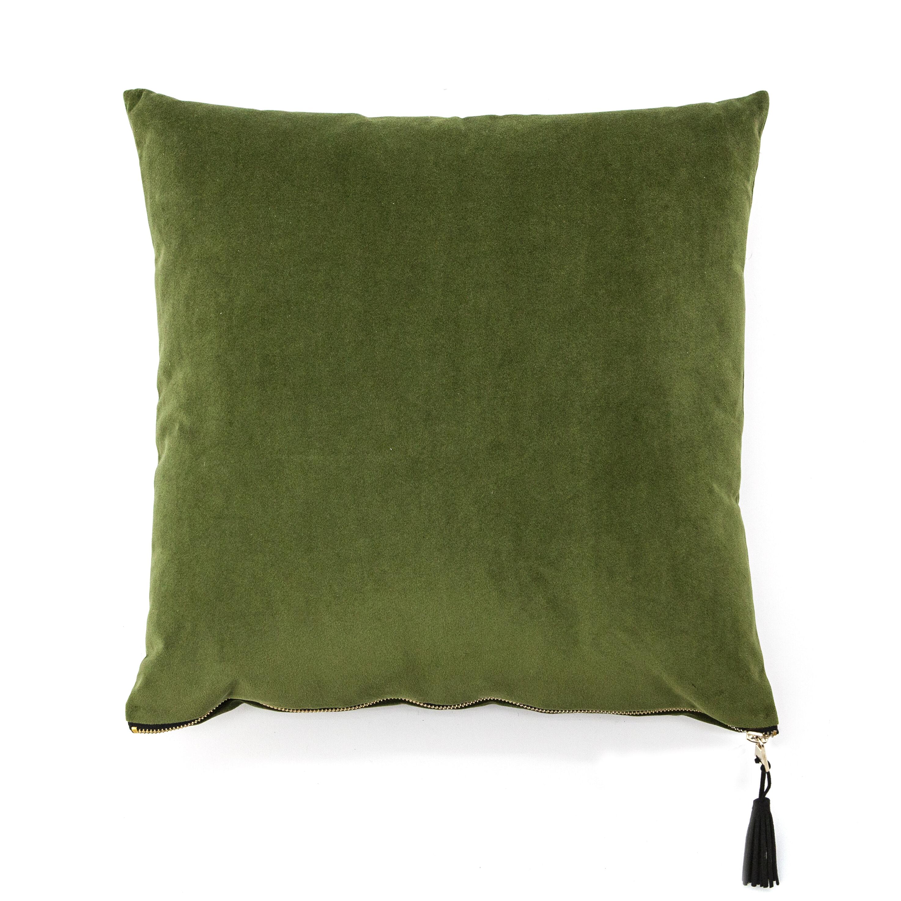 By-Boo Kussen 'Stuart' 45 x 45cm, kleur Groen