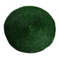 By-Boo Vloerkleed 'Jute Round', kleur Groen