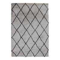 By-Boo Vloerkleed 'Rox' kleur grijs, 200 x 300cm