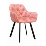 Artistiq Eetkamerstoel 'Liza', Velvet, kleur Roze