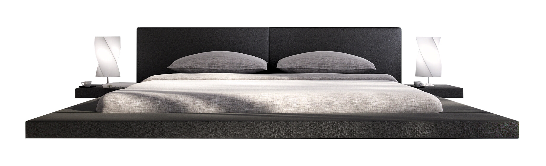 Artistiq Bed 'Renee' 140 x 200cm, kleur Zwart