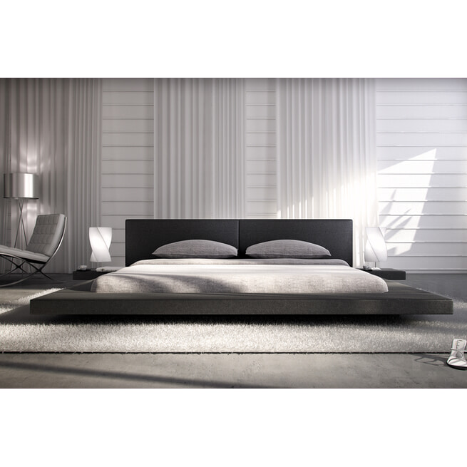 Artistiq Bed 'Jonathon' 180 x 200cm, kleur Zwart