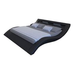 Artistiq Bed 'Priscilla' 140 x 200cm, kleur Zwart