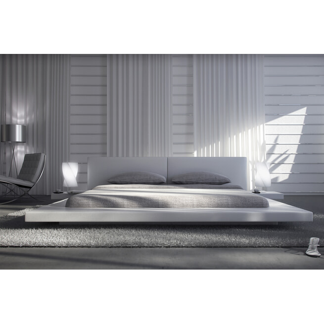Artistiq Bed 'Tonya', 332 x 244 x 72cm, keur Wit