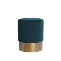 Kayoom Poef 'Nano' 35cm, kleur petrol