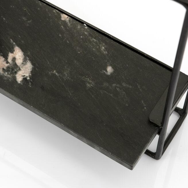 By-Boo Wandplank 'Shelly' kleur zwart marmer