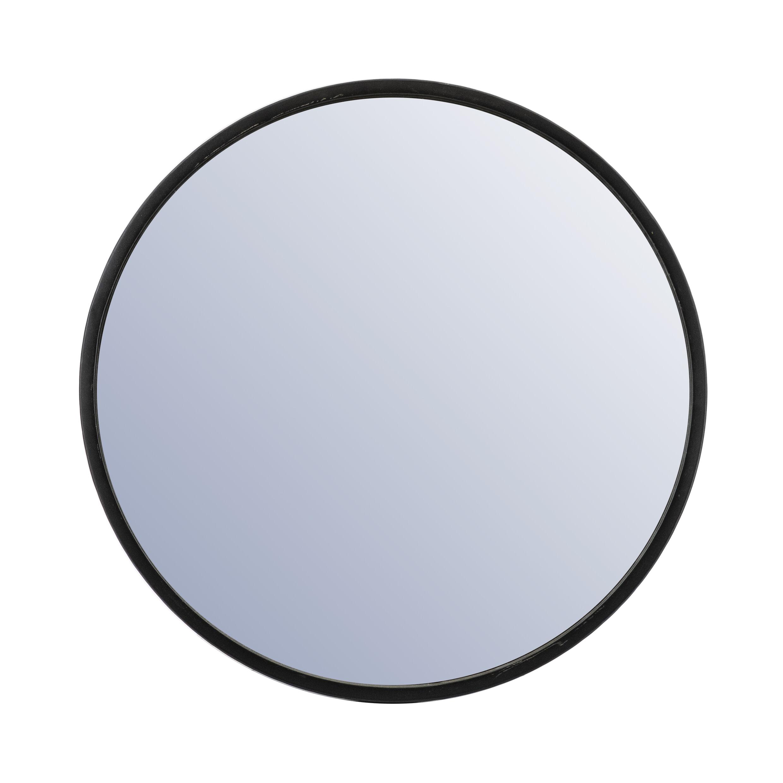 By-Boo Ronde Spiegel 'Selfie' 80cm, kleur Zwart
