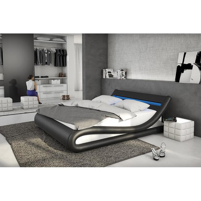 Artistiq Bed 'Anita' 140 x 200cm, kleur Zwart/Wit