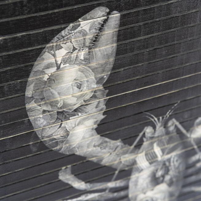 By-Boo Wanddecoratie 'Morita Lobster' 77 x 44cm