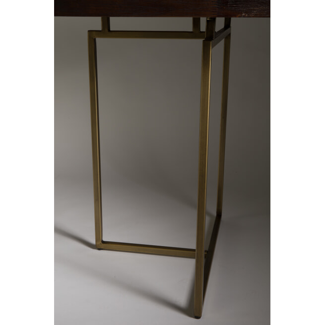 Dutchbone Eettafel 'Class' Antique Brass