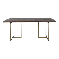 Dutchbone Eettafel 'Class' Antique Brass, 220 x 90cm